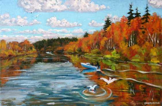 Alexander Bezrodnykh. Autumn on the river - photo 1