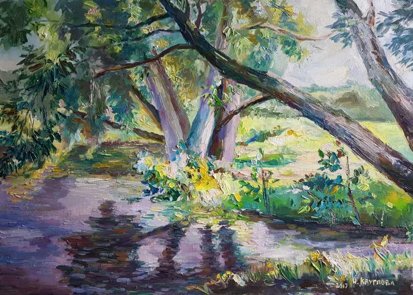Irina Kruglova. Willow on the Ornamental pond - photo 1