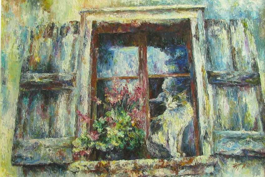 Irina Kruglova. Cat on the window - photo 1