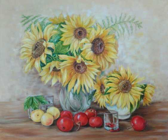 Oksana Borovik. Still life with sunflowers - photo 1