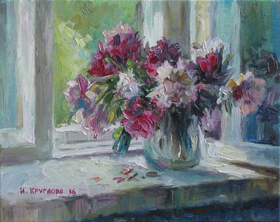 Irina Kruglova. Peonies at the window - photo 1
