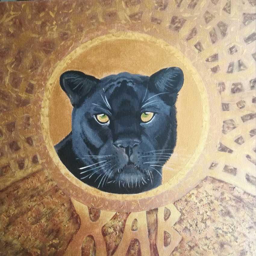Anastasiia Khaliova. Black panther. Portrait of The totem animal / Black Panther. Totem animal portrait - photo 1