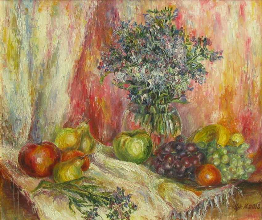 Irina Kruglova. Wildflowers with fruit, oil on canvas, 55 x 66 cm., 2008 - photo 1