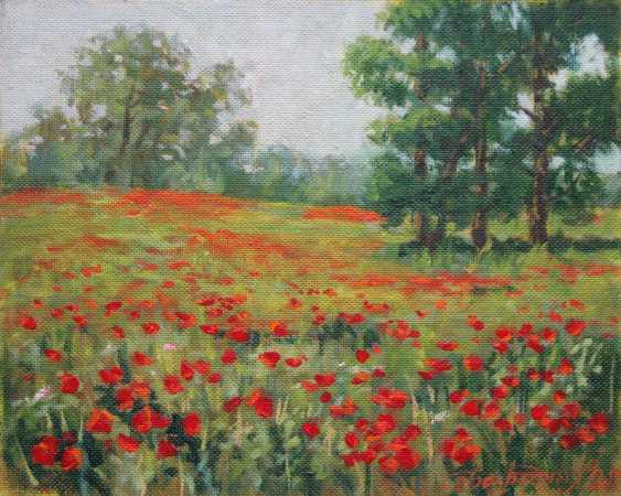 Alexander Bezrodnykh. Poppies on the field - photo 1