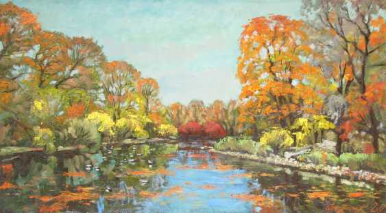 Alexander Bezrodnykh. Pond.Park.Autumn - photo 1
