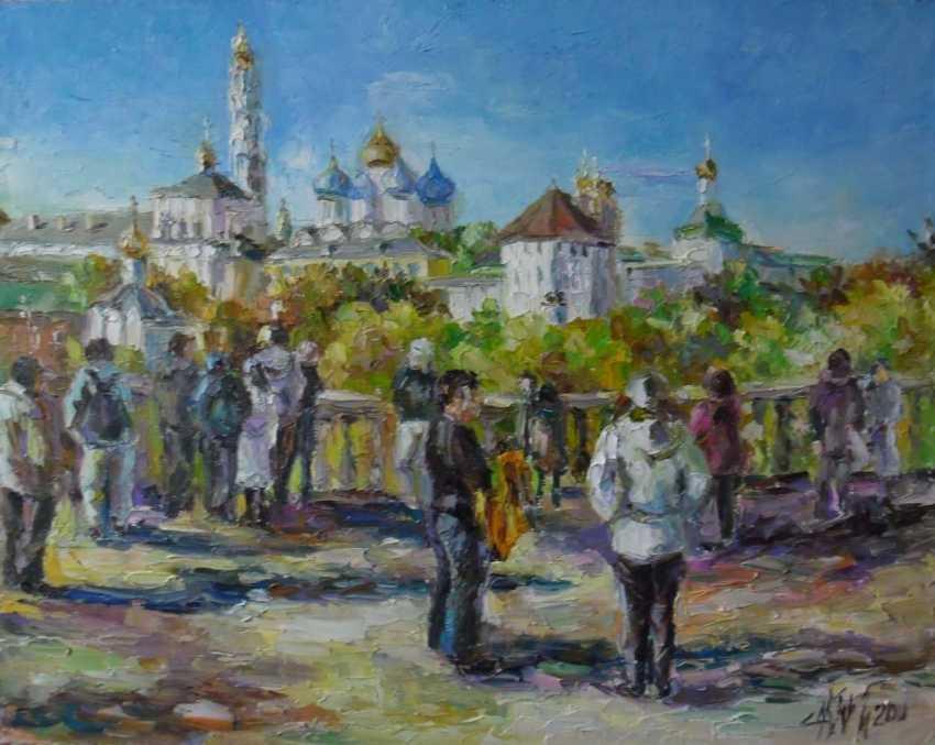 Irina Kruglova. Tourists. Sergiev Posad - photo 1