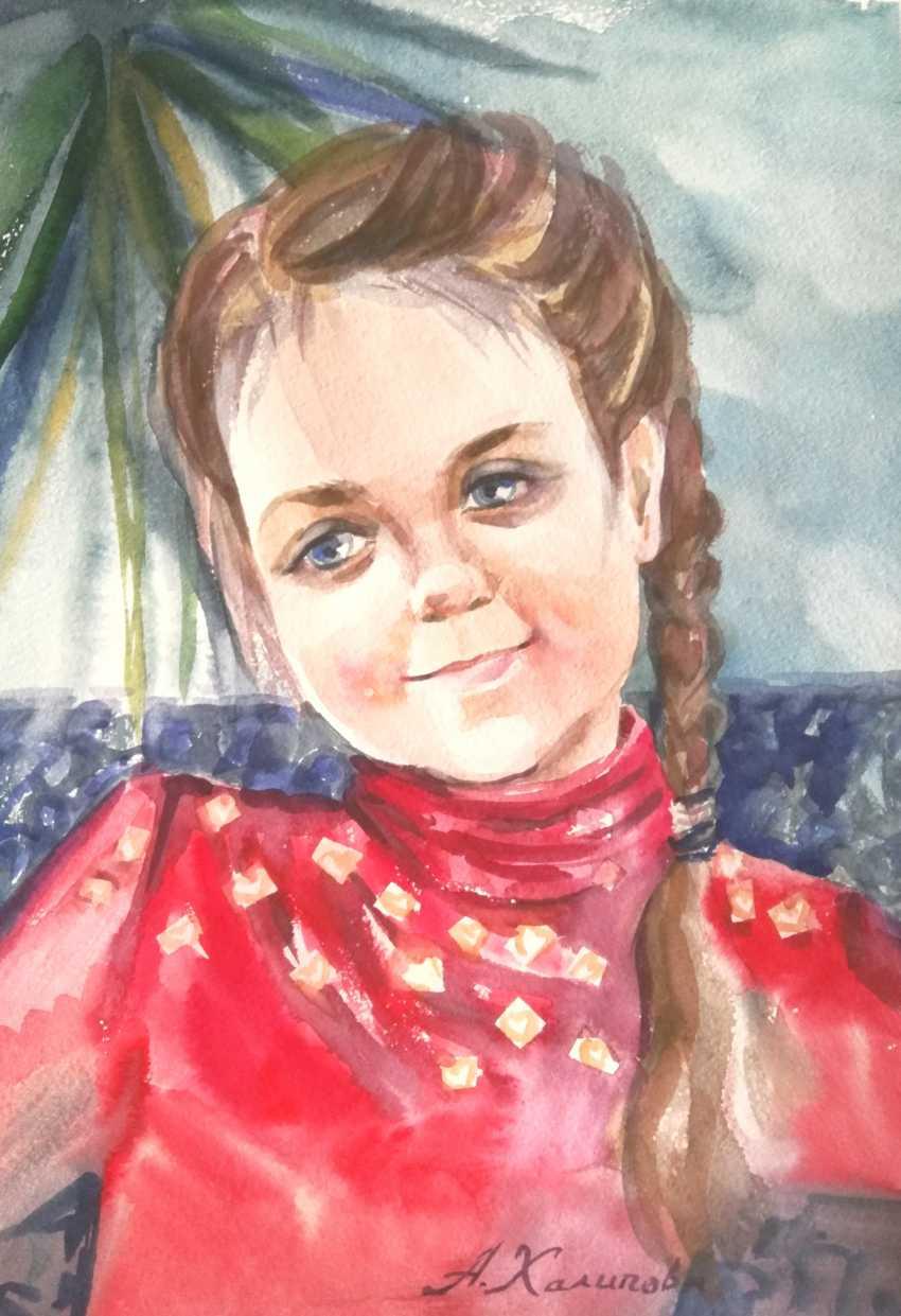Anastasiia Khaliova. The girl in the red/ - photo 1