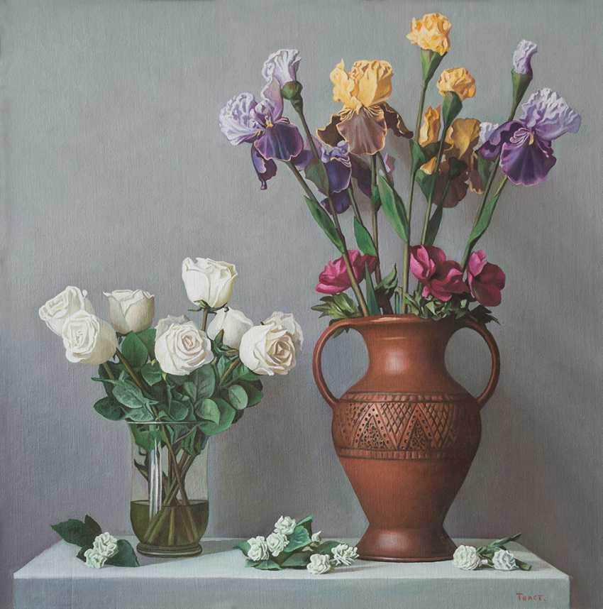 Alexander Tolstikov. Still life with irises - photo 1