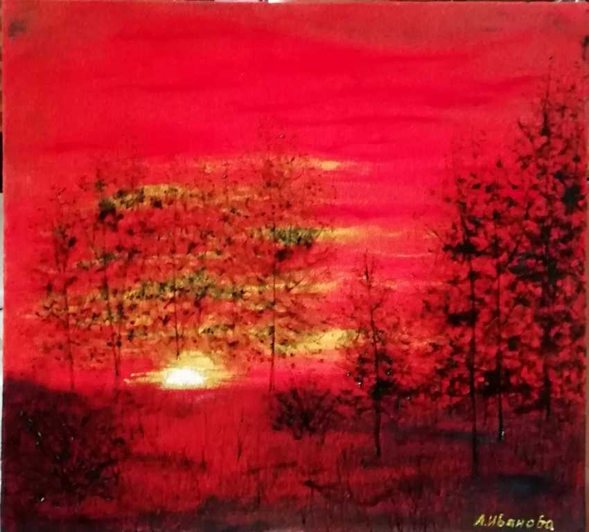 Lidiya Ivanova. The red sunset. - photo 1