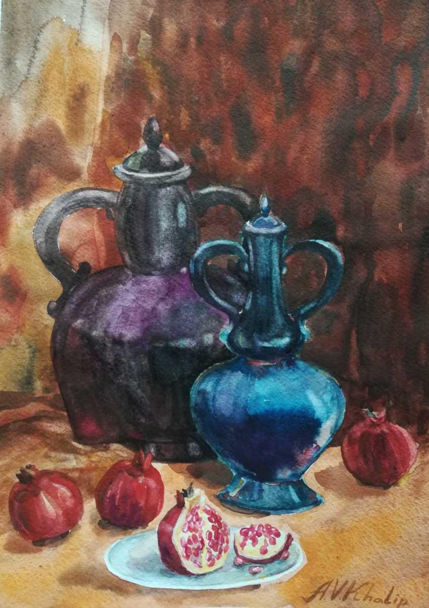 Anastasiia Khaliova. Still life with pomegranate - photo 1
