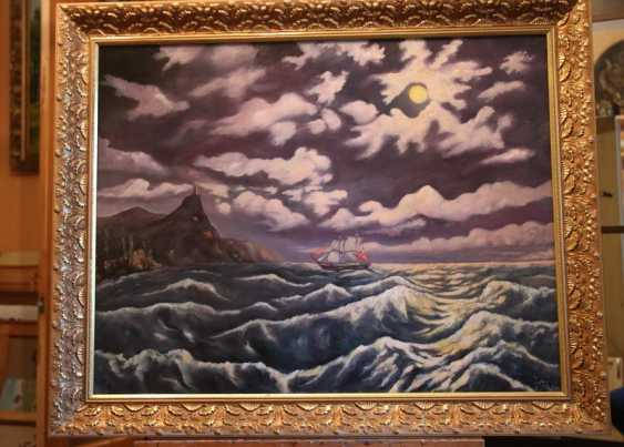 Alexander Elizare. Night surf on a moonlit night in the Black sea - photo 2
