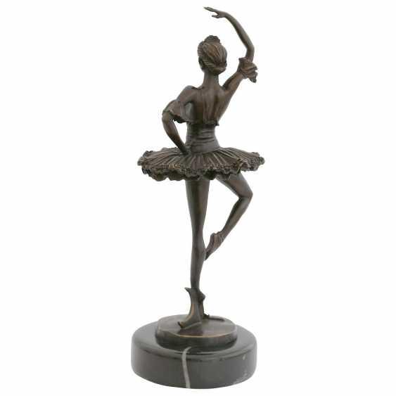 Lukas Erzroll. Ballerina bronze sculpture of a dancing woman on marble base. - photo 2