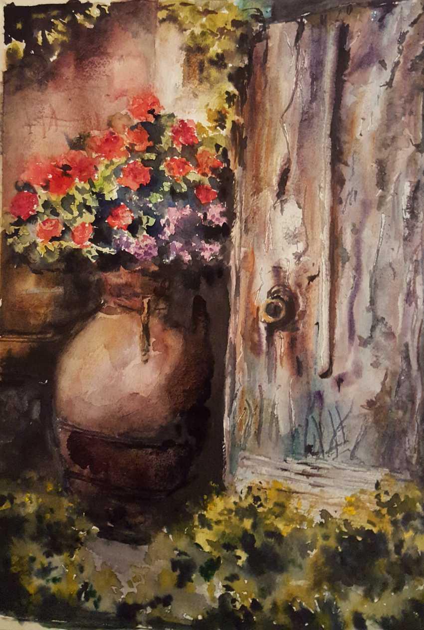 """Nataliia Zhyzhko. My watercolor""""Spanish"""" - photo 1"""