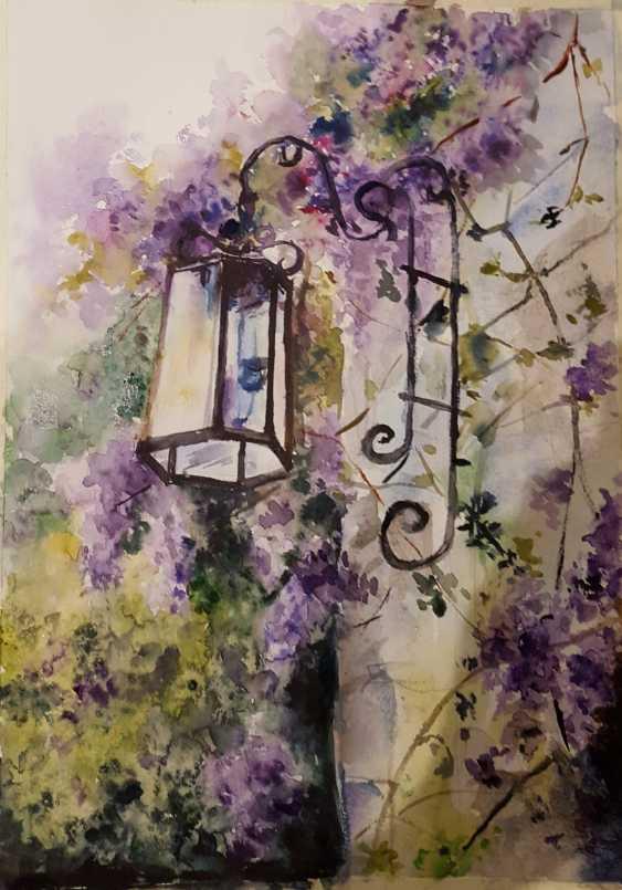 "Nataliia Zhyzhko. My watercolor""Floral landscape"" - photo 1"