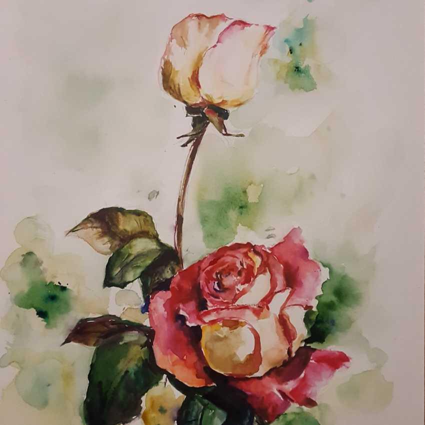 Nataliia Zhyzhko. My watercolor rose - photo 1