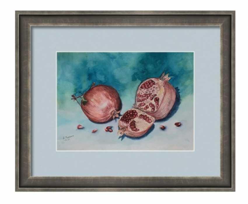 Anastasia Beytuzun. Watercolor pomegranate - photo 2