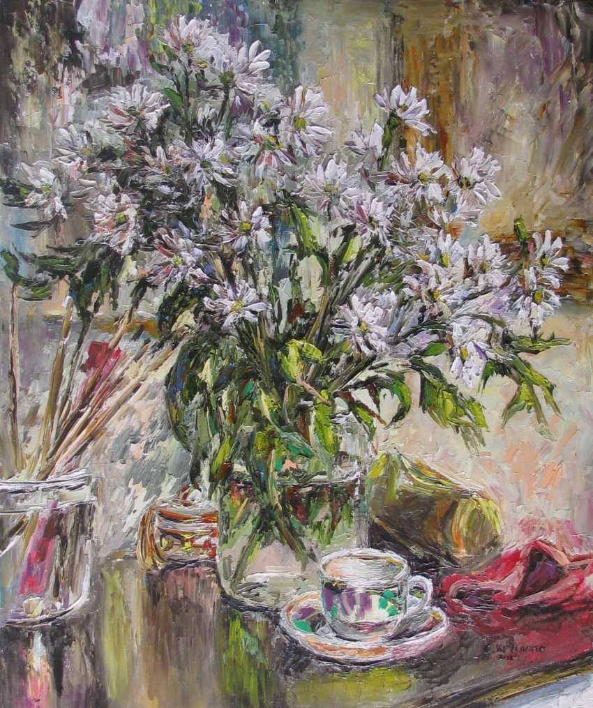 Svetlana Kruglov. White chrysanthemums - photo 1
