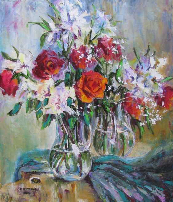 Svetlana Kruglov. Blumenstrauß auf der Palette - Foto 1