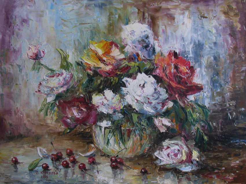 Svetlana Kruglov. Cherries and roses - photo 1