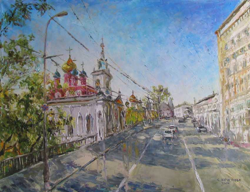 Svetlana Kruglov. St. George's Church in Varvarka , oil on canvas, 50 x 65 cm, 2014 - photo 1