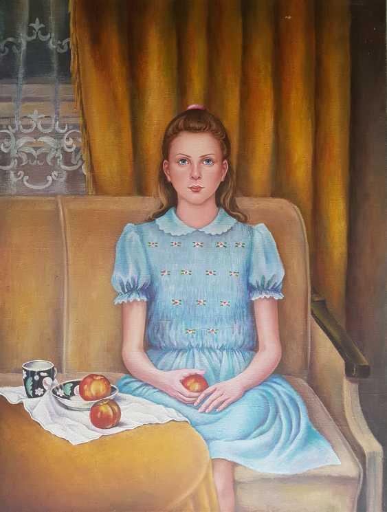 Svetlana Kruglov. Girl with peaches - photo 1