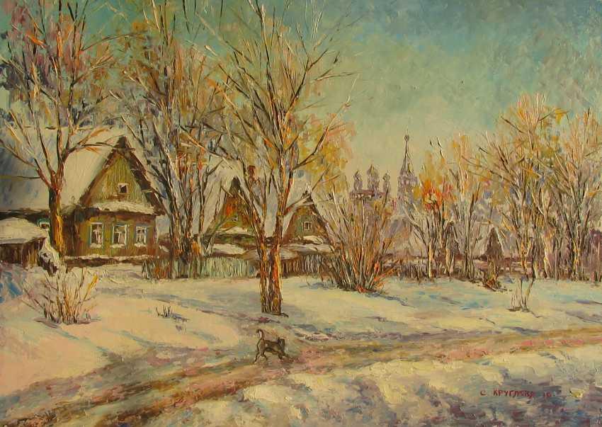 Svetlana Kruglov. Path to the house, oil on canvas, 50 x 70 cm, 2016 - photo 1