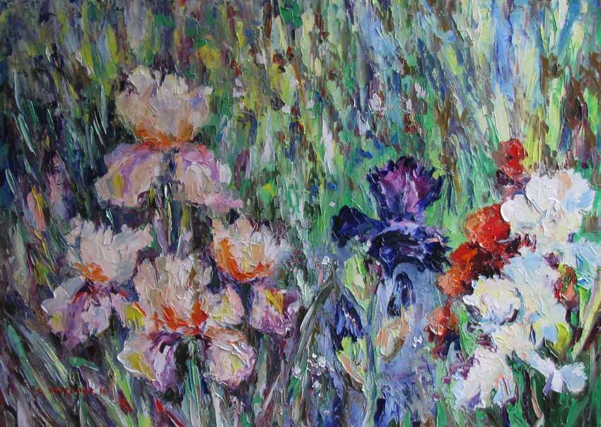 Svetlana Kruglov. Irises in the garden - photo 1