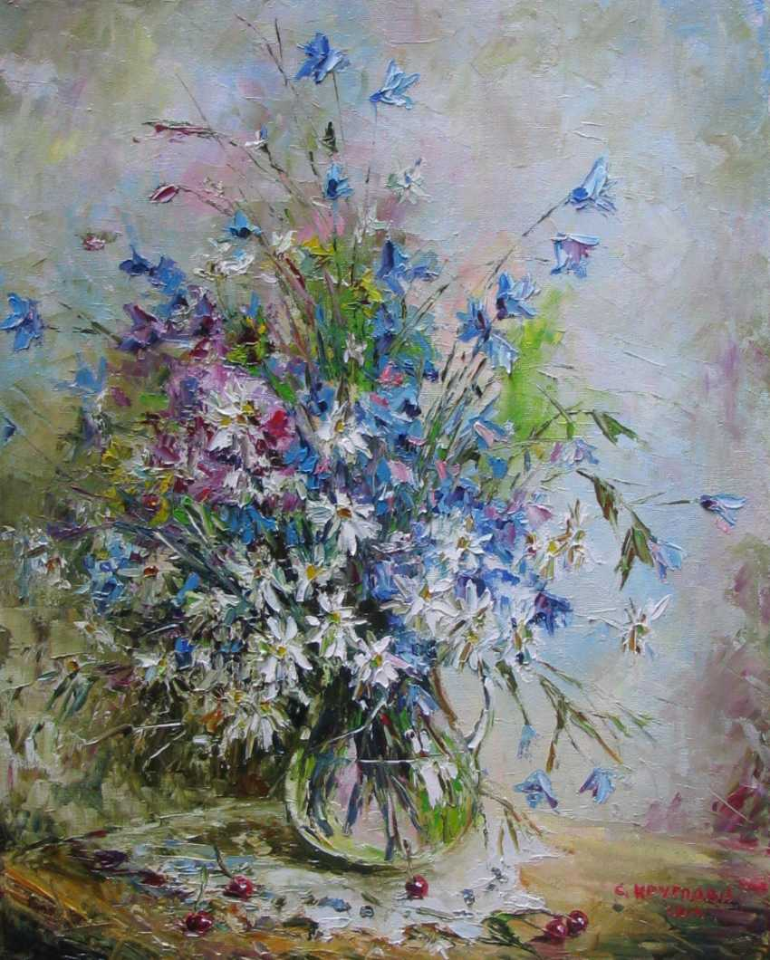 Svetlana Kruglov. July bells and daisies - photo 1