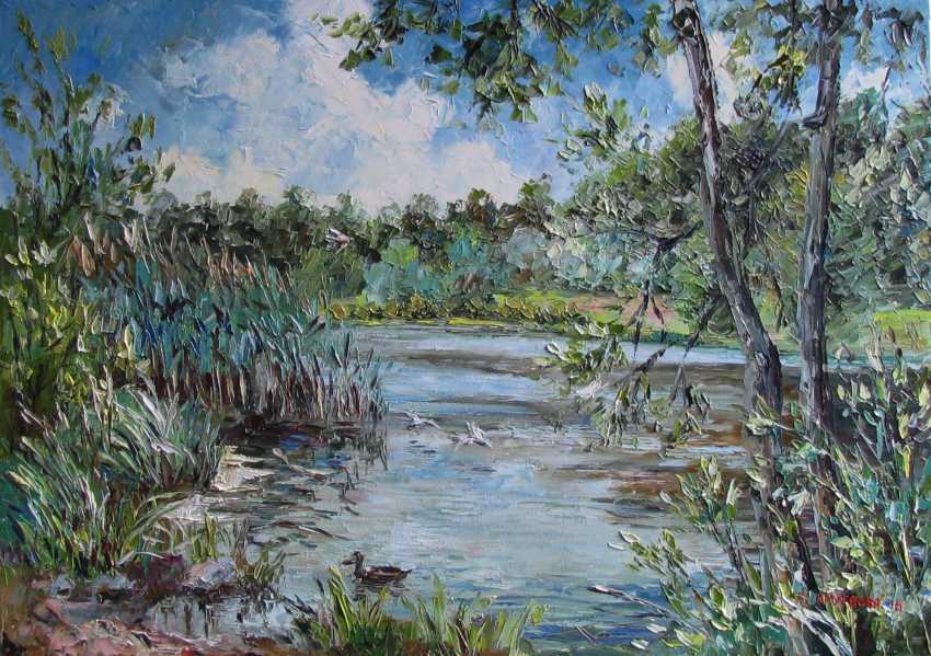 Svetlana Kruglov. The reeds on the pond - photo 1