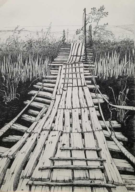 "Ekaterina Marakhovskaya. ""Italian bridge in the village of Rozhdestveno"" - photo 1"