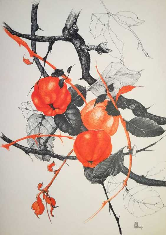 Ekaterina Marakhovskaya. Branch of a quince - photo 1