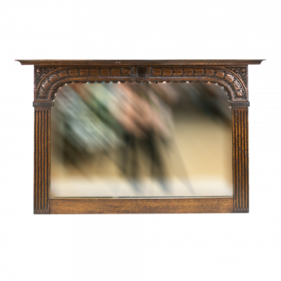 Wall mirror in oak frame from the late nineteenth century - photo 1