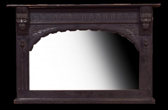 Antique mirror in a black frame - photo 1