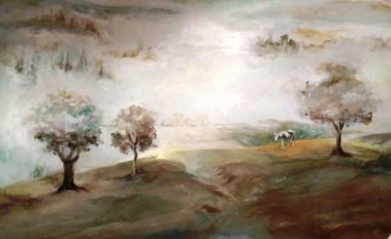 Tatyana Pavlova. Cow in the fog - photo 1