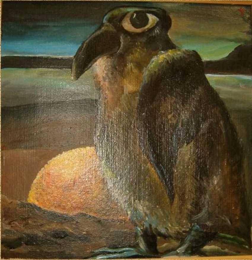 Tatyana Pavlova. Penguin with orange - photo 1