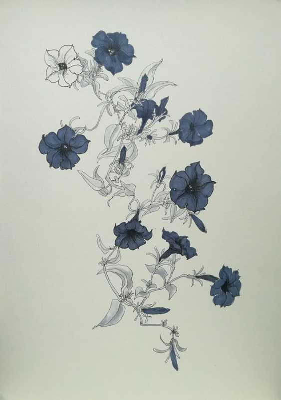 Ekaterina Marakhovskaya. Petunia blue - photo 1