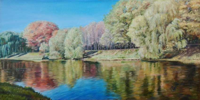 Oksana Borovik. Autumn river - photo 1