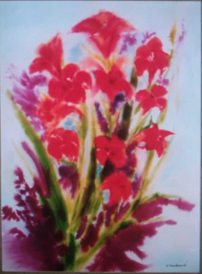 Natalie Kacharava. Still life with gladiolus. - photo 1