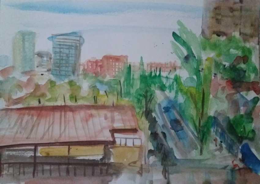 Bob Usoroh. sketch outdoors - photo 1
