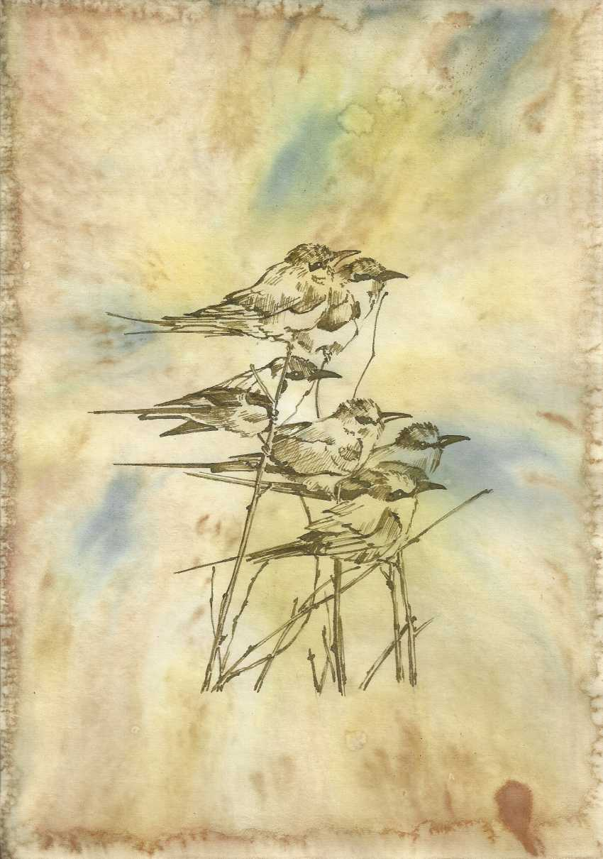 Natasha Mishareva. Bird flock. Handmade. 2019. The Author - Natalia Pisareva - photo 1