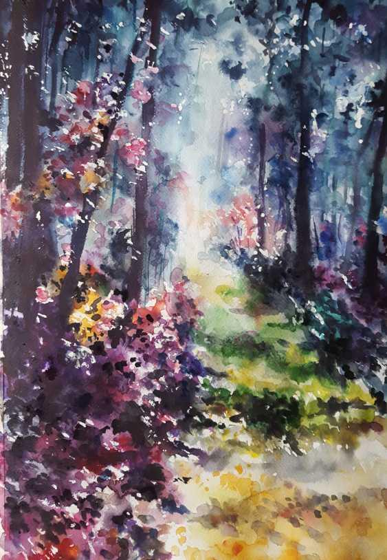 "Nataliia Zhyzhko. My watercolor,""Forest landscape"" - photo 1"