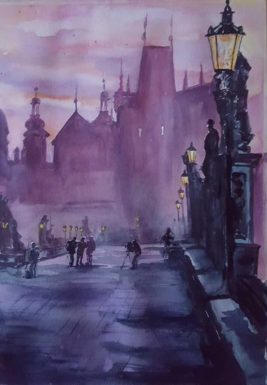 """Nataliia Zhyzhko. My watercolor""""Charles bridge"""" - photo 1"""
