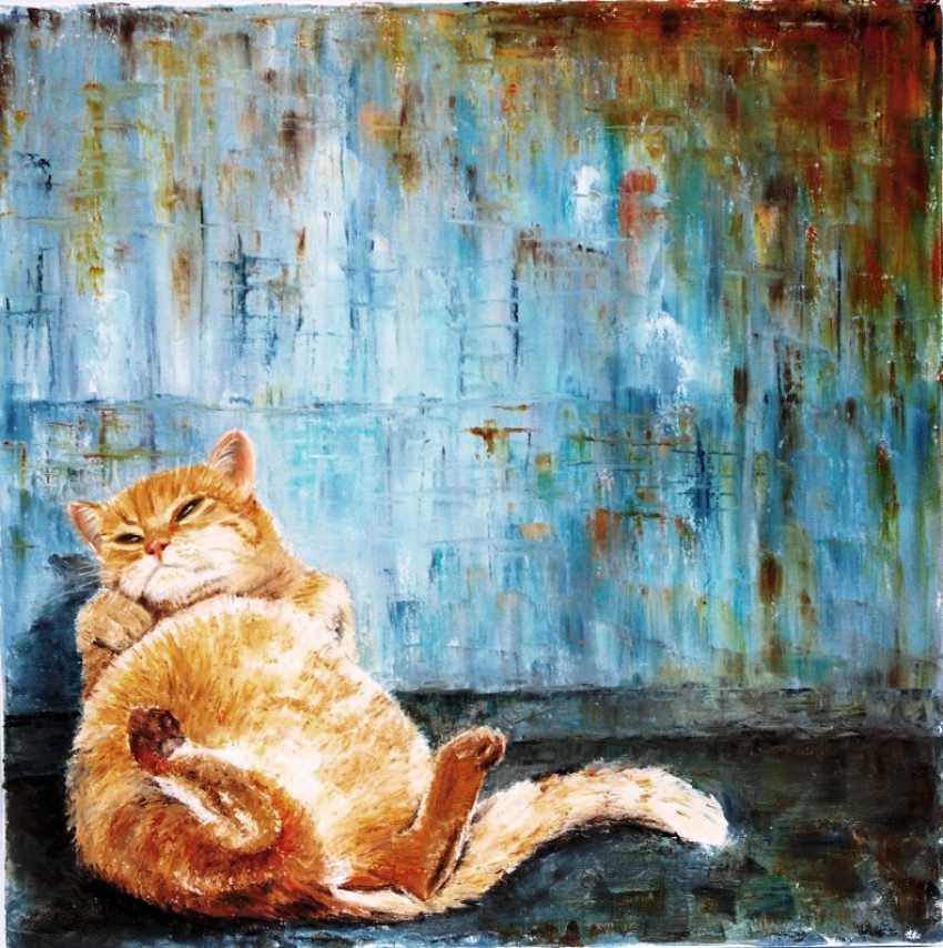 Nataliia Bahatska. Sleepy cat - photo 1