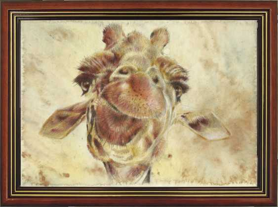 Natasha Mishareva. Giraffe. Drawing, handwork, 2019 Author - Pisareva Natalia - photo 3
