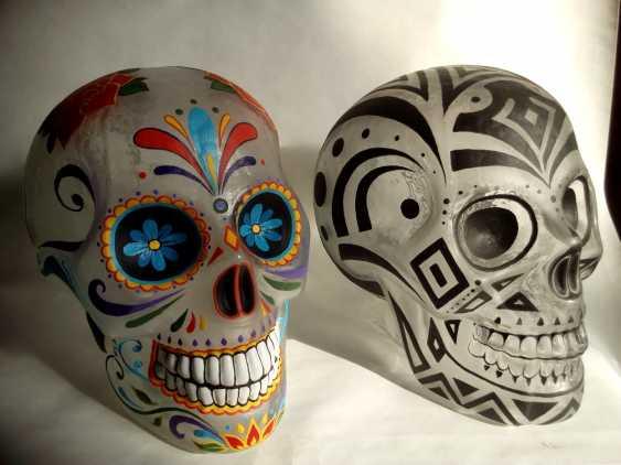 Rashid Bakirov. Glas-Schädel, nach den Motiven des mexikanischen Feiertages Tag der Toten - Foto 1