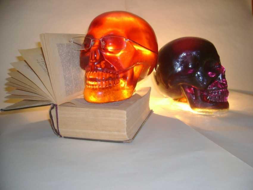 Rashid Bakirov. Glas-Schädel, nach den Motiven des mexikanischen Feiertages Tag der Toten - Foto 2