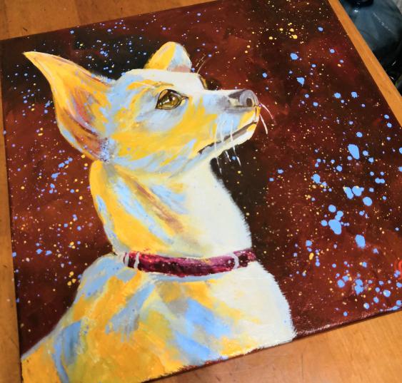 Ludmila Riabkova. Unique pet portrait Puppy portrait Pet portrait canvas Puppy painting Dog artwork Сute dog - photo 3