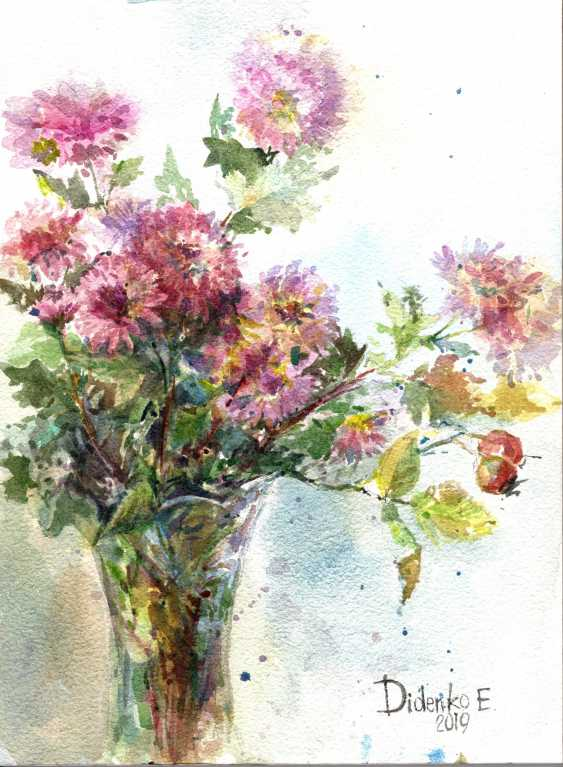 Elena Didenko. Chrysanthemum. Etude. - photo 1