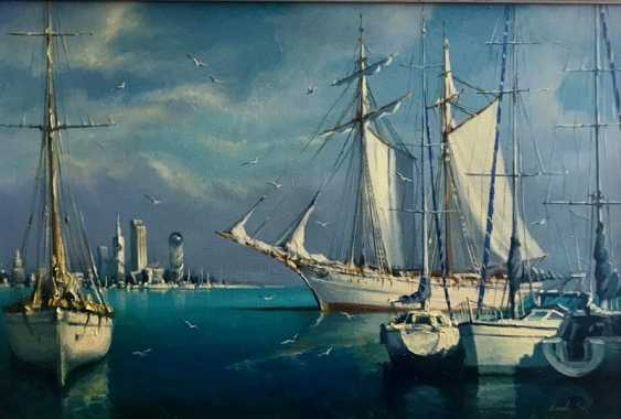 lado Sharashidze. The yachts in the harbour ( Yachts in bay ) - photo 1