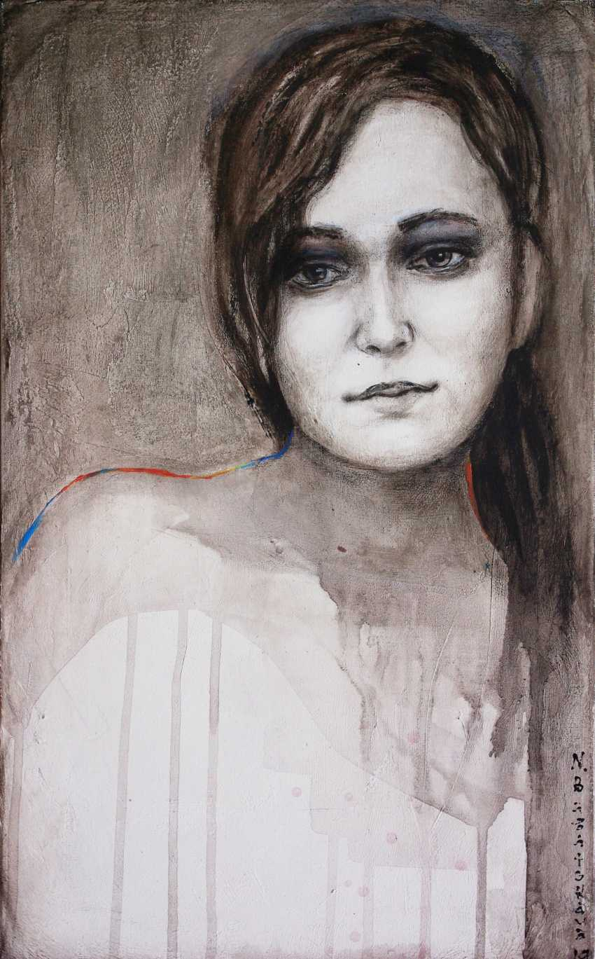Nataliia Bahatska. Portrait of a girl in grisaille - photo 1